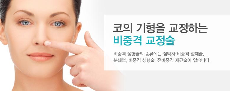 코의 기형을 교정하는 비중격 교정술