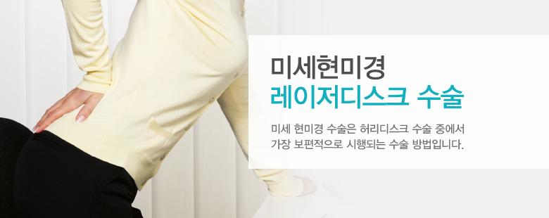 미세현미경 레이저디스크 수술